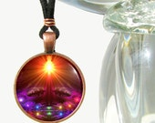 Psychedelic Necklace Chakra Jewelry Reiki Energy Art Pendant
