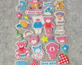 Mixed Cutie Happy Bear Stickers