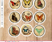 Vintage Images of Butterfly, altered art, perfect for bottle caps, magnets, scrapbooking, Buttons