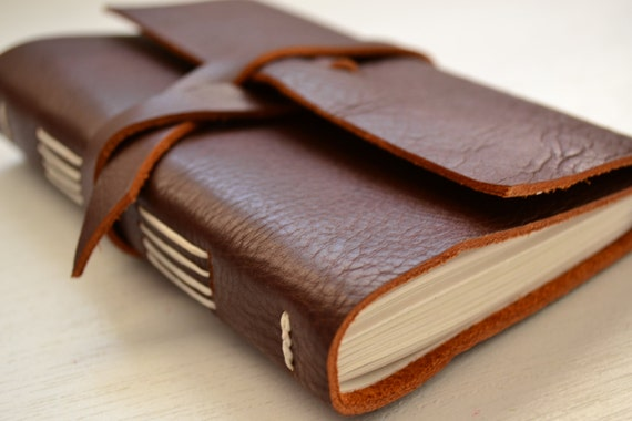 Leather Journal Sketchbook with blank pages