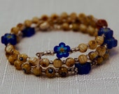 Lampwork Bead Rosary Bracelet (4mm)