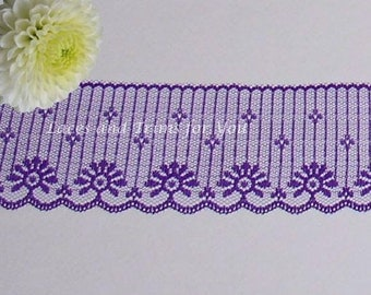 Purple Lace Trim 10/20 Yards Candlewick 2-3/4 inch wide Lot E56A Added Items Ship No Charge