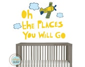 Reusable Wall Decals for Children, GO PLACES, Small, Nursery Decals, Gift for Baby Room, Boys or Girls Decor