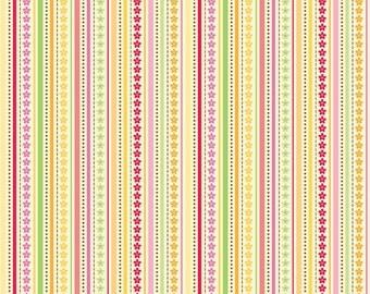 Ladybug Garden - Yellow Ladybug Stripe by Doodlebug Designs for Riley Blake Fabrics