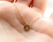 Teeny Tiny Gold Initial Necklace, Dainty Personalized Disc Necklace, Layering Necklace, Delicate Personalized Jewelry, Mother's Necklace