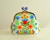 Vintage Folk Dutch Floral Clutch bag
