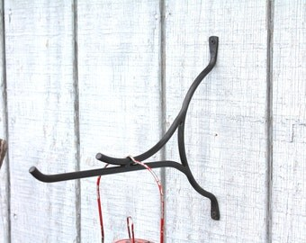 Hand Forged Iron Large & Modern Plant, Lantern or Wind Chime Holder by VinTin (Item# G-705)