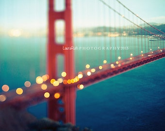 "San Francisco Photograph - Golden Gate Bridge -  Abstract Travel Photograph - Iconic, Architecture - ""Meet Me in San Francisco"""