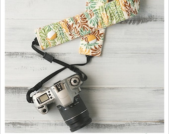 CLOSEOUT SALE - ruched camera strap cover - mums the word