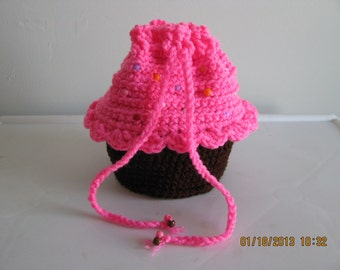 Mini Cupcake purse/tote - girls/teens/ladies