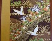 Handbound Japanese Cranes Address Book