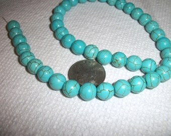 10mm Turquoise round beads,