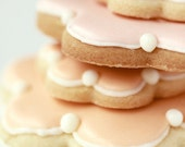 Still Life Food Photography 8 x 12 Print. Cookies, Pastel, Peach, Pink, White, Biscuits, Icing, Aqua, Pastel Blue - PhotographyByAnita
