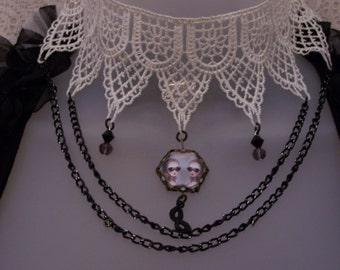 On Sale! Victorian Marie Antoinette Mask Choker Necklace