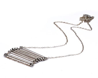 SALE Silver Stack Bar Necklace