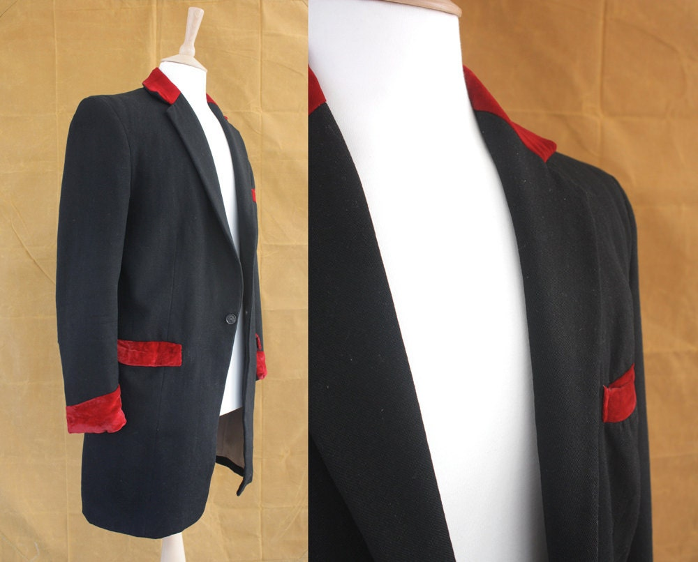 Vintage Original 1950s Teddy Boy Jacket Size S