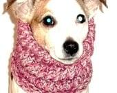 Dog Hoodie Cowl Neck Warmer Rose