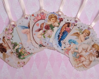 Heavenly Cupid's Gift Tags set of 8 No.518