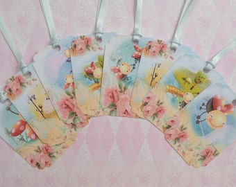 Little Lady Bugs Gift Tags set of 8 No.1