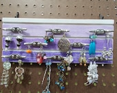 Jewelry Hanger/Home Decor/Wall Decor/Wood Hook Rack/Reclaimed wood/Jewelry Display Board