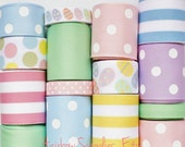 Easter Egg Pastel 15 Yd Grosgrain Ribbon Lot - Hairbow Supplies, Etc. - HairbowSuppliesEtc