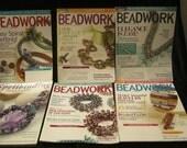 4 Beadwork Recent Magazines and Book Spellbinding BEAD Jewelry/Breathtaking Beautiful Patterns