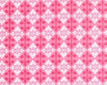 Tanya Whelan - Darla - Ditty Damask in Pink - cotton quilting fabric