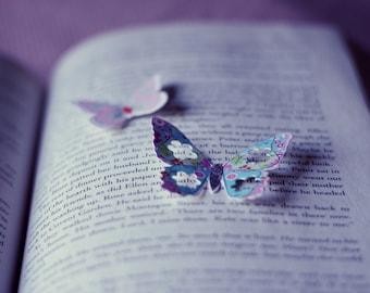 Paper Butterflies Over Text- 8x10 Fine Art Photograph