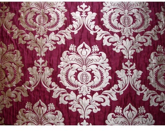 Ruby Royal Damask Curtain Fabric Upholstery Fabric Curtain Panels Drapery Fabric Window Treatment Fabric