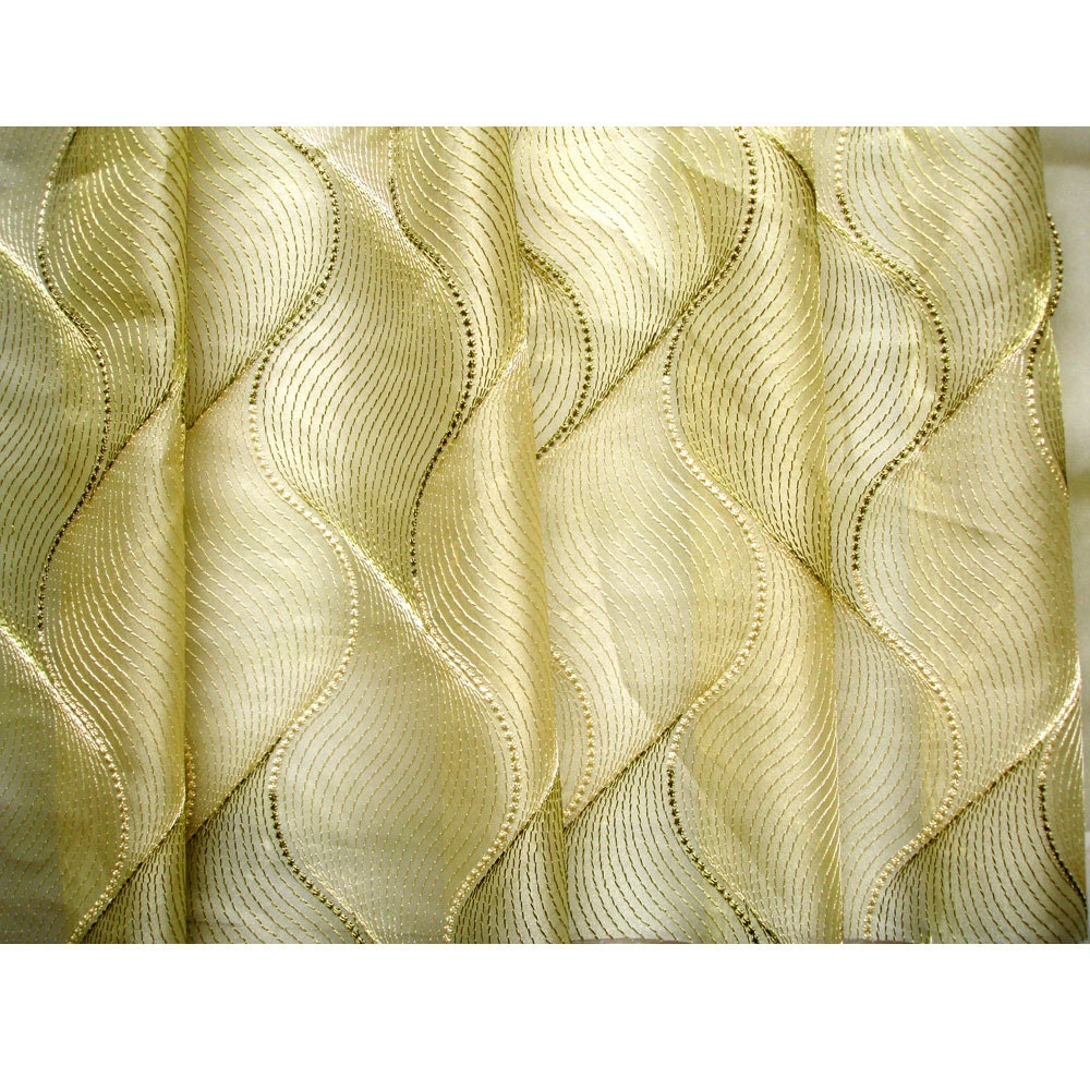 Curtains texture gold