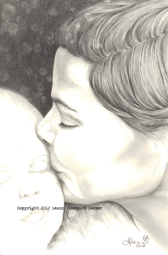 Kissing Drawing Kissing Her Child Drawing