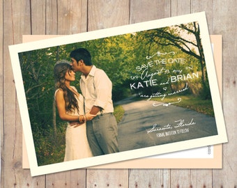 Save-The-Date-Magnet, Save-The-Date-Postcard, Save The Date Card - Early Morning