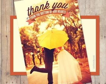 Wedding Thank You Postcard, Wedding Thank You, Wedding Thank You Card, Thank-You-Card - Banner