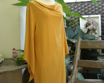 S-M Soft Spandex Kanya Collection Tunic - Yellow Mustard
