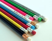 """6 pencil gift set - """"I licked this."""" pink"""