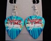 Adventure Time Custom Design Guitar Pick Earrings