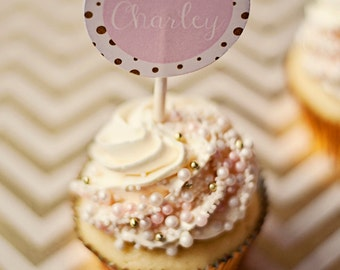 Ballerina/Ballet Party Circles, Cupcake Toppers- Printable