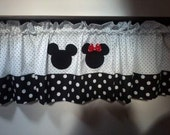 Mickey and Minnie valance
