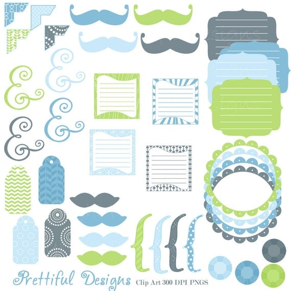 50% Off Sale Boy Clip Art Digital Frame Mustaches Tag Brackets Journal Spots Ampersand Commercial Use Jack (667)
