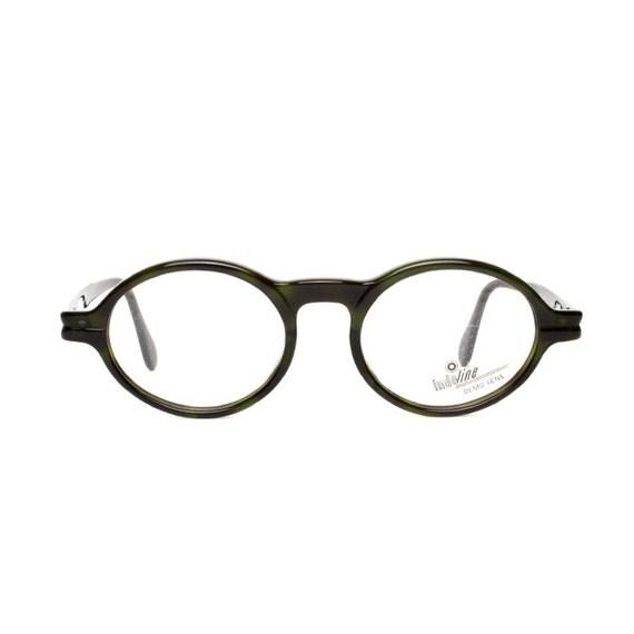 dark olive green glasses frames oval vintage eyeglasses