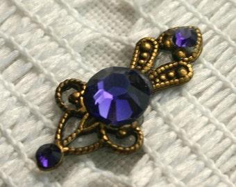 Itty Bitty Purple Velvet Bindi