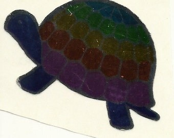 Vintage 80's Hambly Studios Mylar Turtle Sticker