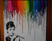 Audrey Hepburn Inspired Melted Crayon Painting