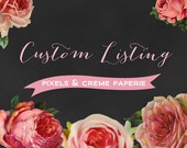 Listing for Custom Invitation Order- Purchase Listing  to Get Started Today