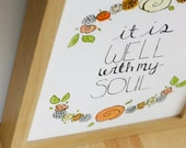 5x7 PRINT-- It Is Well With My Soul Art Print