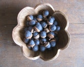Felted wool acorns, Slate Blue, wholesale set of 50, for winter home decor, table decoration, blue bowl filler, woodland wedding, blue acorn