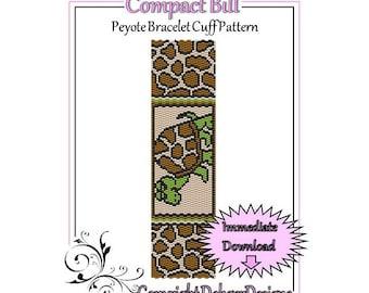Bead Pattern Peyote(Bracelet Cuff)-Compact Bill