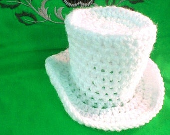 Tiny Top Hat Easy Crochet Pattern Instant Download Costume Fasinator Victorian Steampunk Goth