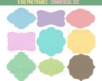 Digital label Digital frame Digital frame clip art Png frames commercial clipart Commercial use Big PNG