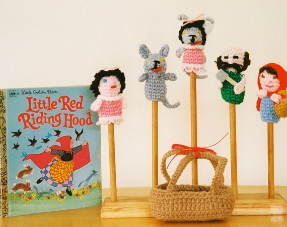 little red riding hood finger puppets tale finger puppet set 5 puppets 7815